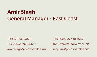 Neat Hotel Manager Business Card
