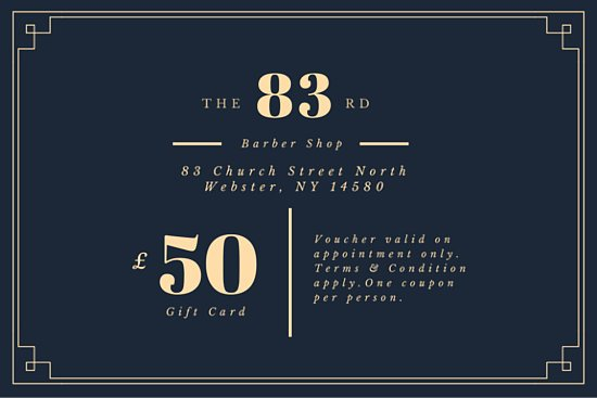 Vintage barber shop gift certificate templates by canva yadclub Gallery