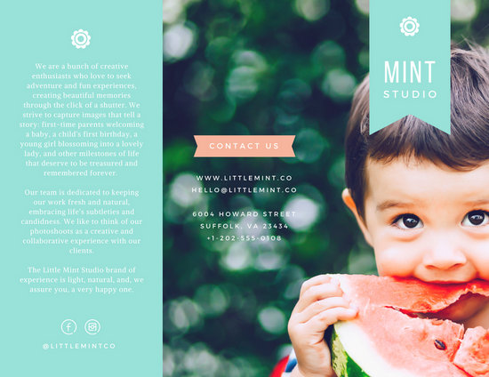 Little Mint Studio Brochure  Templates By Canva