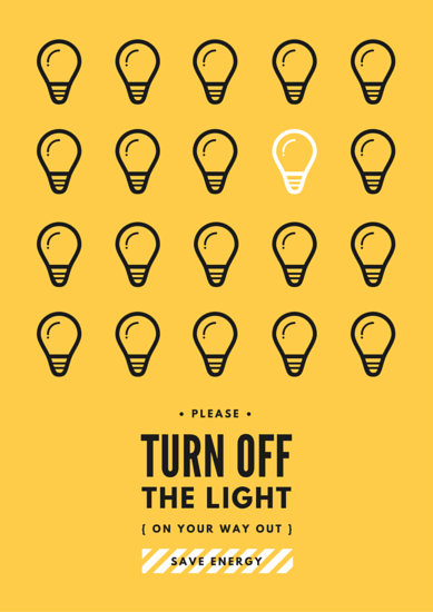 Energy Saving Campaign : Poster templates canva