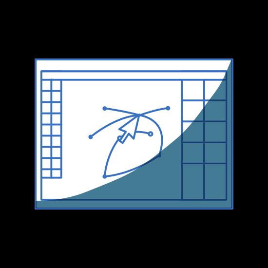 Graphic Designer Tools Line Icon