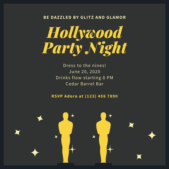 Gold Awards Hollywood Invitation