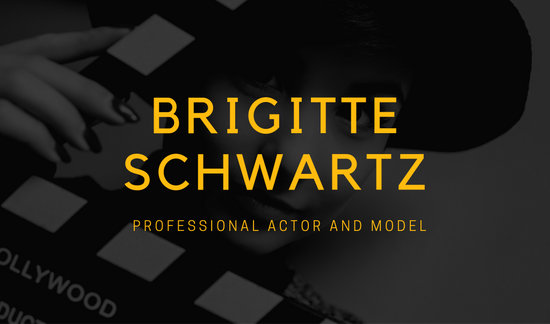 Blue and Yellow Actor Model Business Card