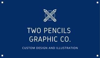 White Pencil Vectors Graphic Design Business Card