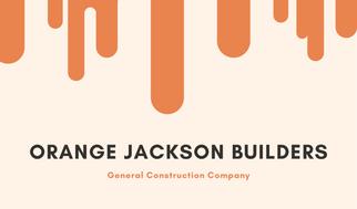 Orange Construction Business Card