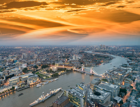 Aerial View of London Tower
