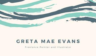 Bermuda Brushstroke Freelancer Business Card
