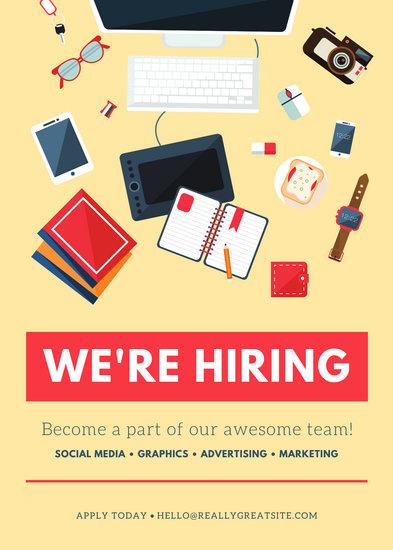 Yellow Job Vacancy Announcement