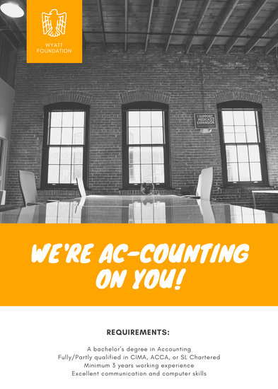 Orange Office Accounting Job Vacancy Announcement