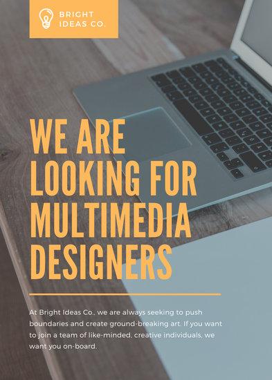 Orange Photo Job Vacancy Announcement
