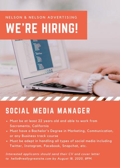 Orange Agency Job Vacancy Announcement