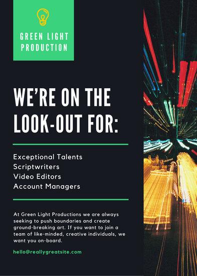 Black Photo Job Vacancy Announcement