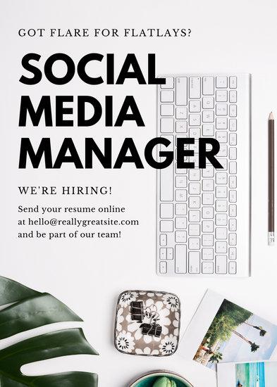 White Flatlay Simple Job Vacancy Announcement