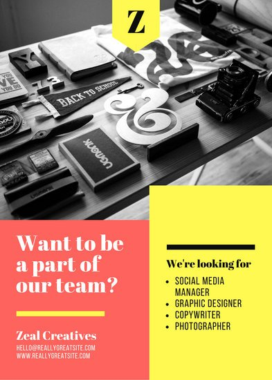 Orange & Yellow Bold Creative Job Vacancy Announcement