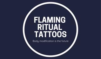 Dark Blue Minimalist Icon Tattoo Artist Business Card