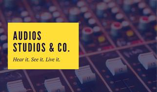 Yellow Modern Music Studio Business Card