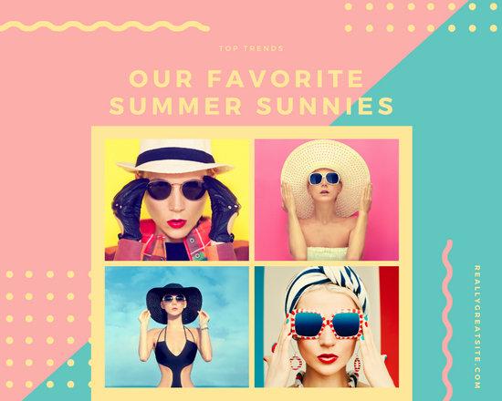 Pastel Shades Fashion Photo Collage