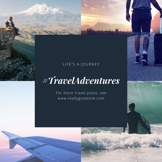 Black Travel Plain Collage Instagram