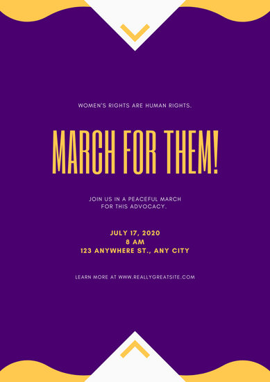 Violet Modern Women's Rights Poster