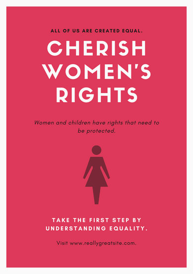 Pink Black Women's Rights Awareness Poster