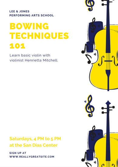 Violin Illustration Music Poster