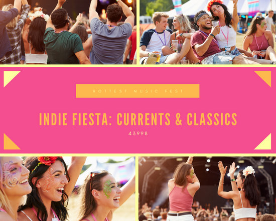 Pink Indie Music Fest Photo Collage