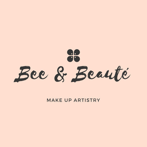 Pastel Orange Elegant Floral Beauty Logo