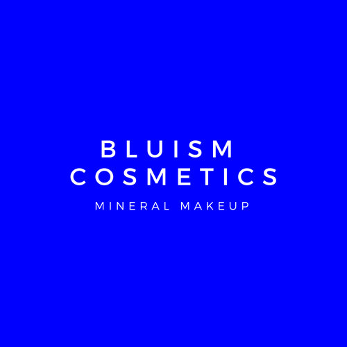 Blue Minimalist Cosmetics Beauty Logo