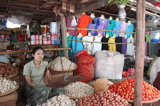 Bagan, Market, Human, Myanmar, Burma, Market Stall