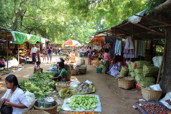 Bagan, Market, Human, Market Stall, Myanmar, Burma