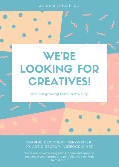Colorful Pattern Job Vacancy Announcement