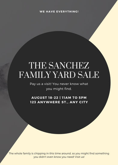Grey and Aquamarine Shapes Yard Sale Flyer