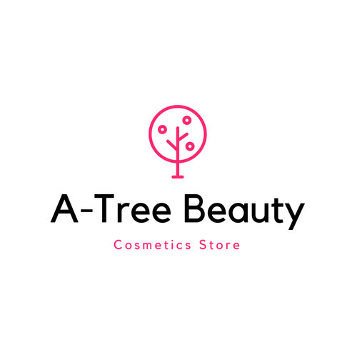 Black and Pink Tree Heart Beauty Logo