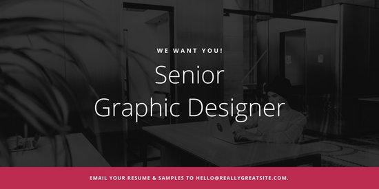 Violet Creative Job Post / Vacancy / Announcement Twitter Post