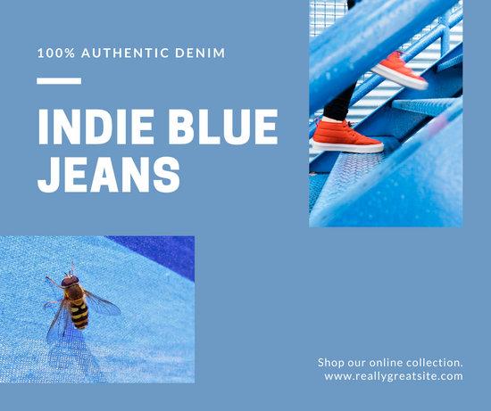 Blue Minimalist Plain Collage Facebook Post