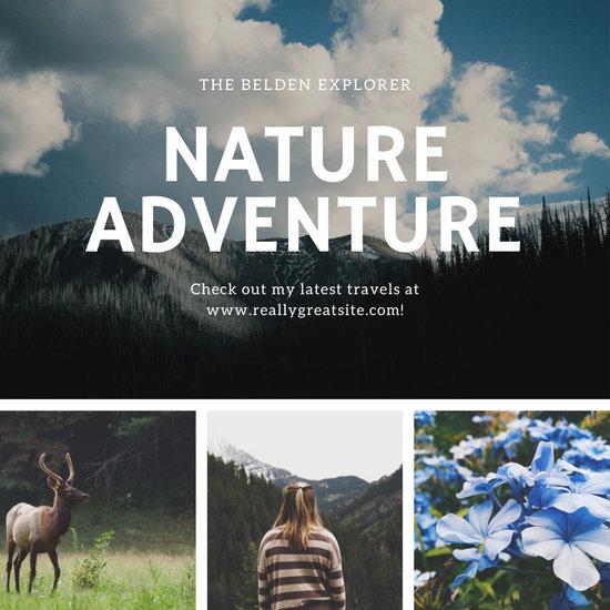 Nature Mountain Photo Plain Collage Instagram Post