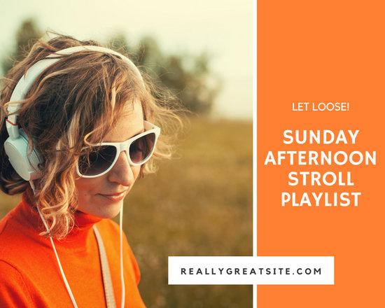 Orange Afternoon Stroll Music Collage