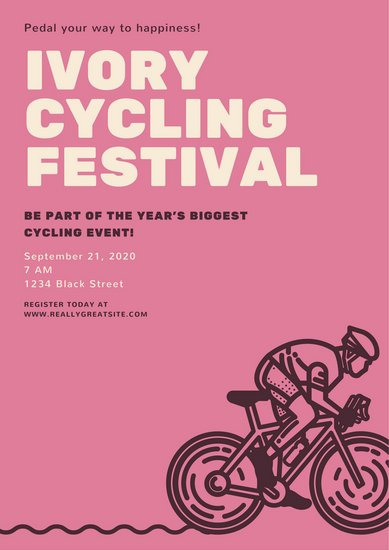Pink French Cycling Festival Poster
