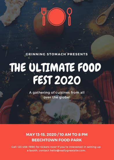 Red Food Festival Flyer