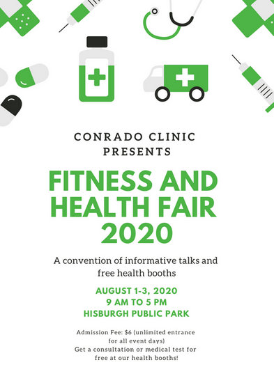 Green Medicine Icons Health Fair Flyer