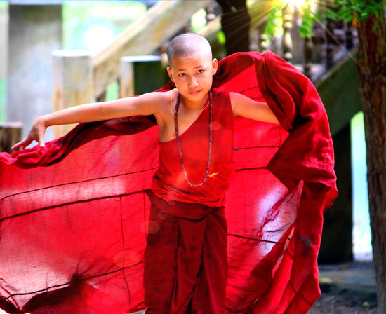 Monk, Myanmar, Red, Burma, Buddhism, Spirituality
