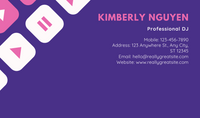 Pink and Purple illustrated DJ Business Card