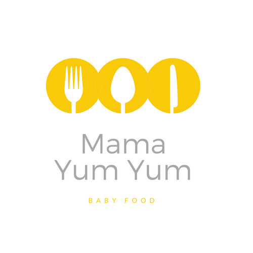 Utensils Baby Food Logo