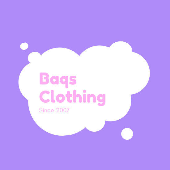Purple and White Speech Bubble Clothing Logo