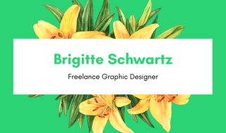 Green Floral Graphic Design Business Card