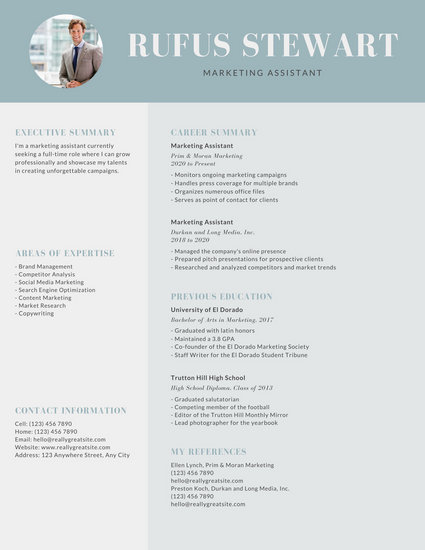 Gray Modern Professional Resume