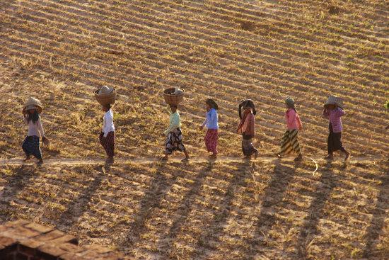Myanmar, Burma, Human, Asia, Woman, Abendstimmung