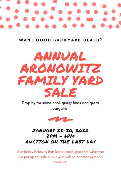 Red & Black Creative Yard Sale Flyer