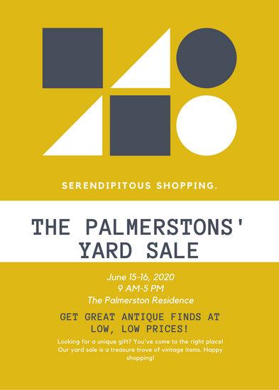 Shape Yellow Yard Sale Flyer