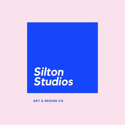 Pink and Blue Box Art & Design Logo